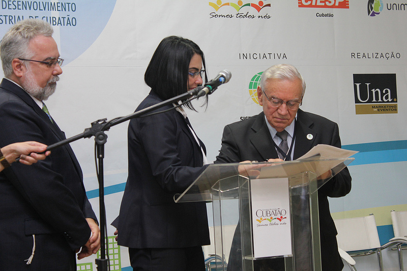 Parceria com a Prefeitura de Cubatão e com a EcoRodovias